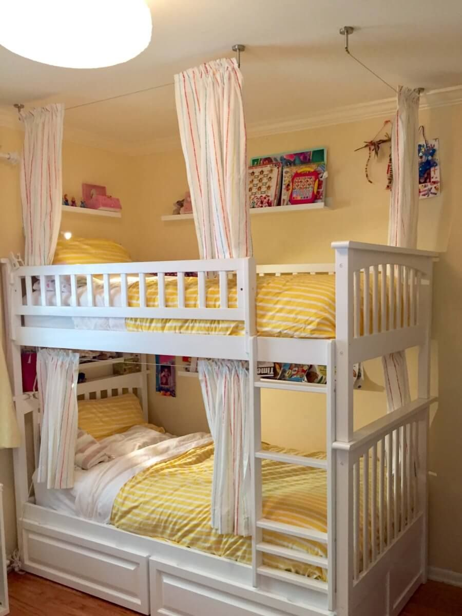 Lightweight And Breathable Bunk Bed Curtains Girls Bunk Bed Room Bunk Bed Curtains Bunk Bed