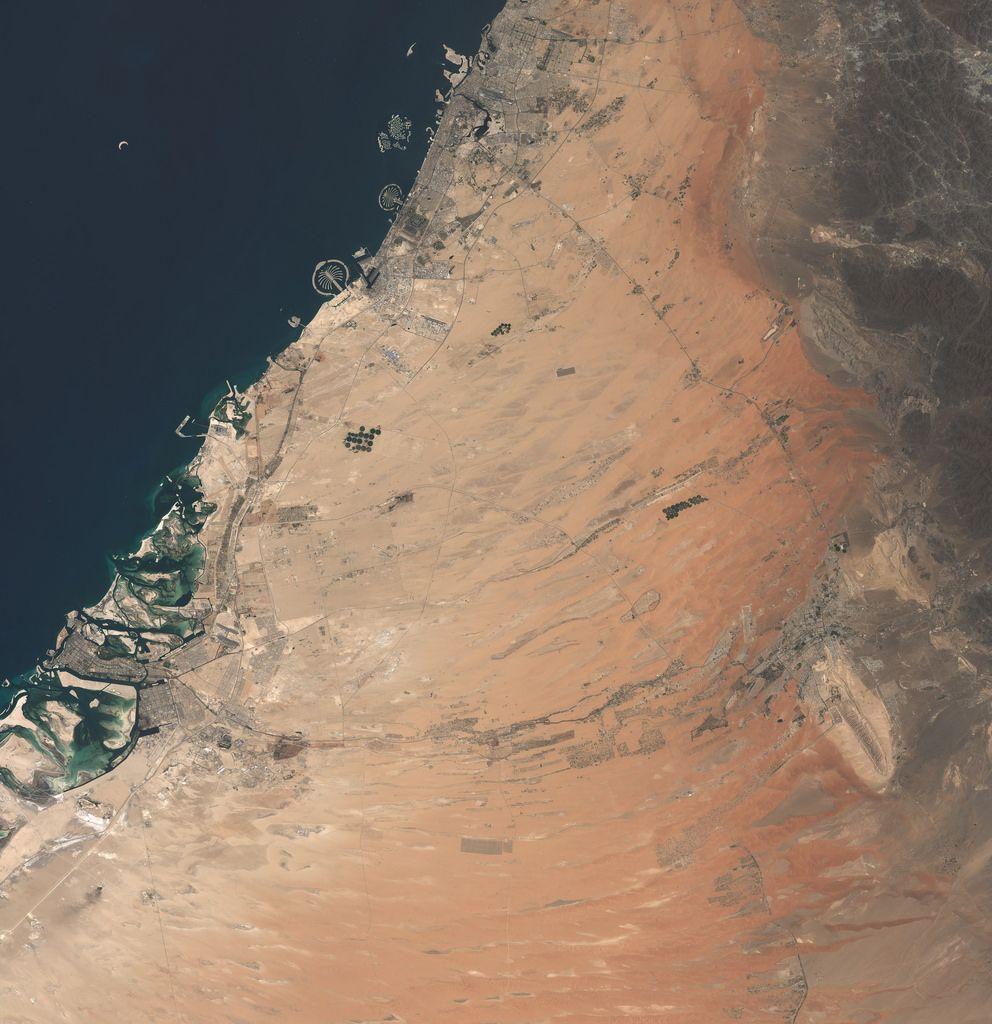 Palm Islands on Dubai Coastline United Arab