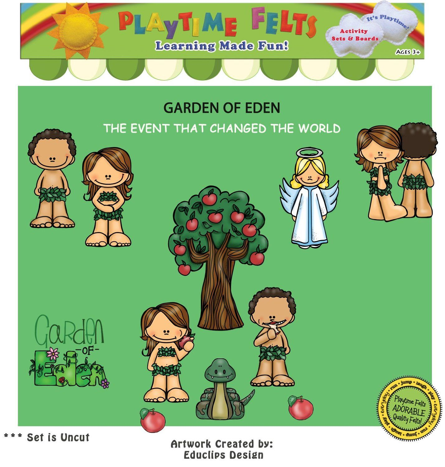 Amazon Garden Of Eden Felt Figures For Flannel Board