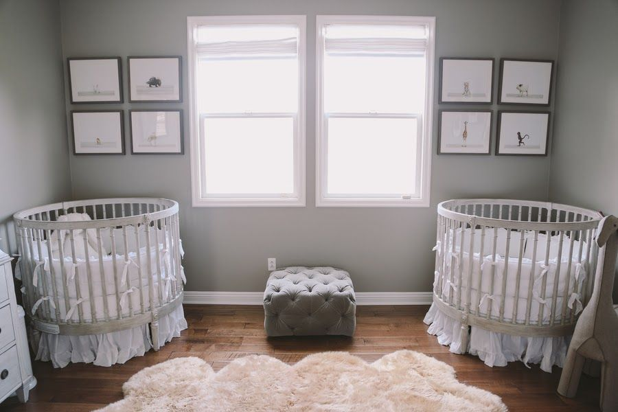 The Serenity Twins Twin Baby Rooms Round Baby Cribs