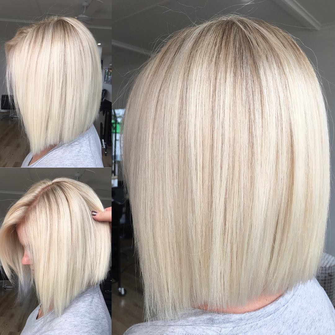 """Hottes Hair on Instagram: """"Clean Blonde @jamie_hotteshair @hotteshair #blondehair #blonde #olaplex #lakmecolour #lob - - - �To Book In at Hottes Hair ️ Call (02)…"""""""