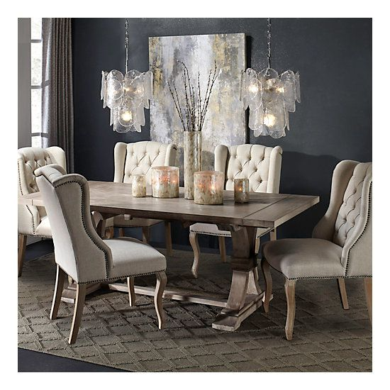 Archer Natural Grey Extending Dining Table Luxury Dining Room