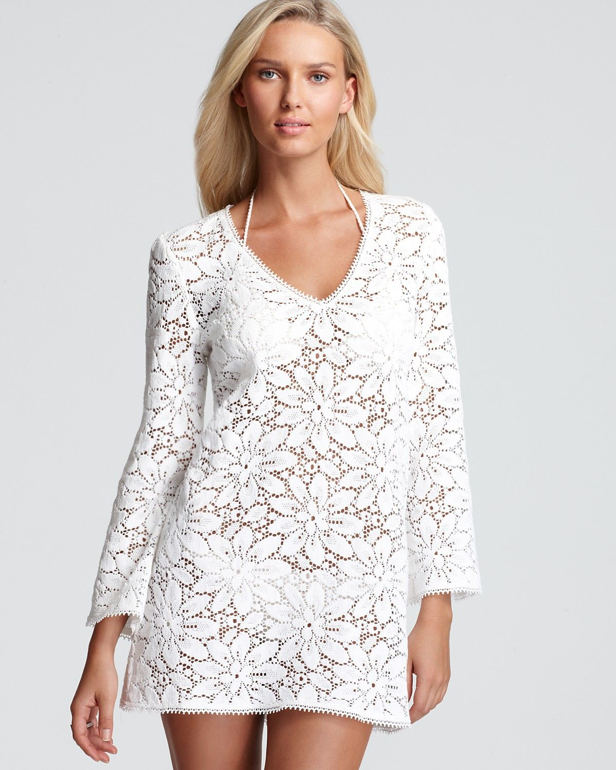 fdd0f005eb3c7 Milly Mykonos Crochet Tunic Swimsuit Coverup | Bloomingdale's $265 ...