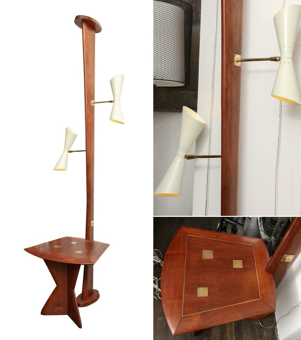 Amazing Tension Pole Lamp And Table Combo Room Divider Screen