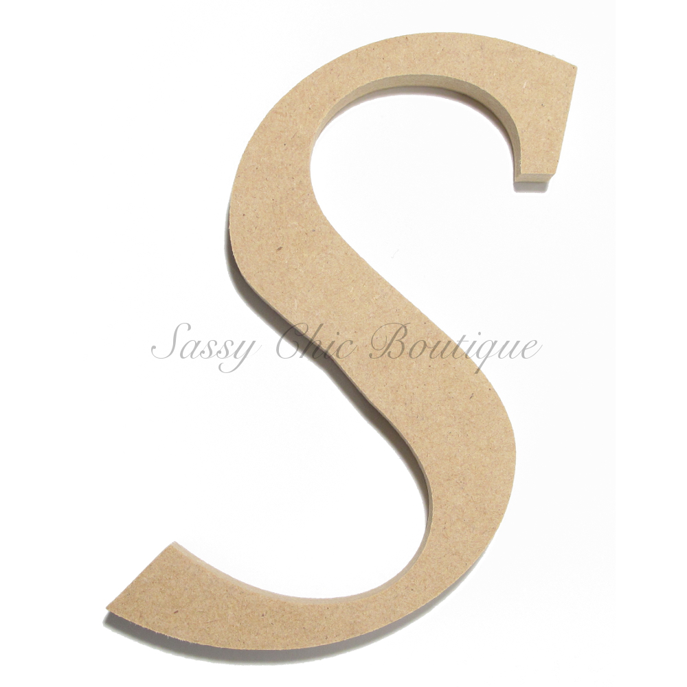 Unfinished Wooden Uppercase Letter S