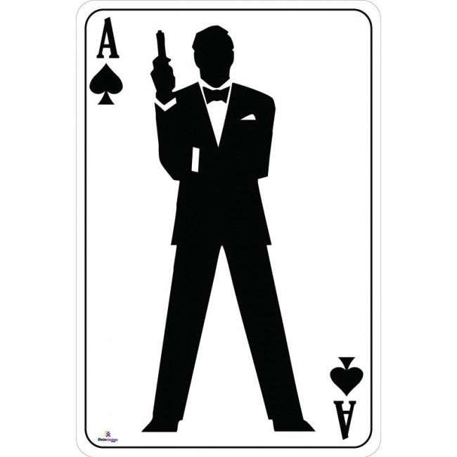 Ace of Spades Bond Silhouette Playing Card Cardboard ...