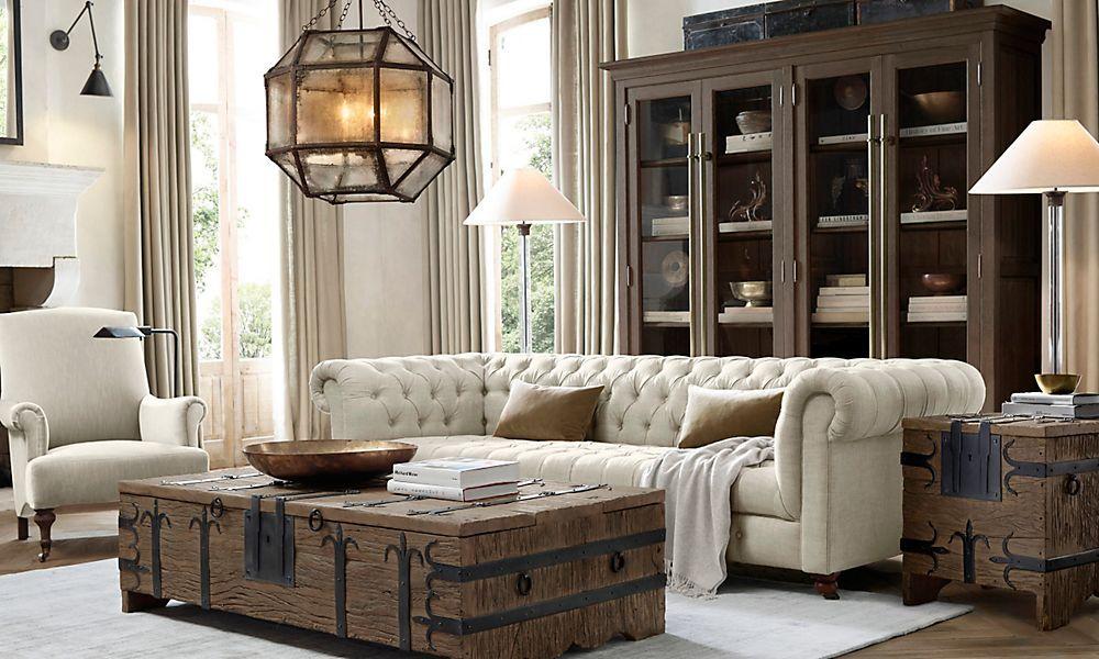 Baules restaurados decoracion salas de estar decoraci n for Decoracion salas clasicas elegantes