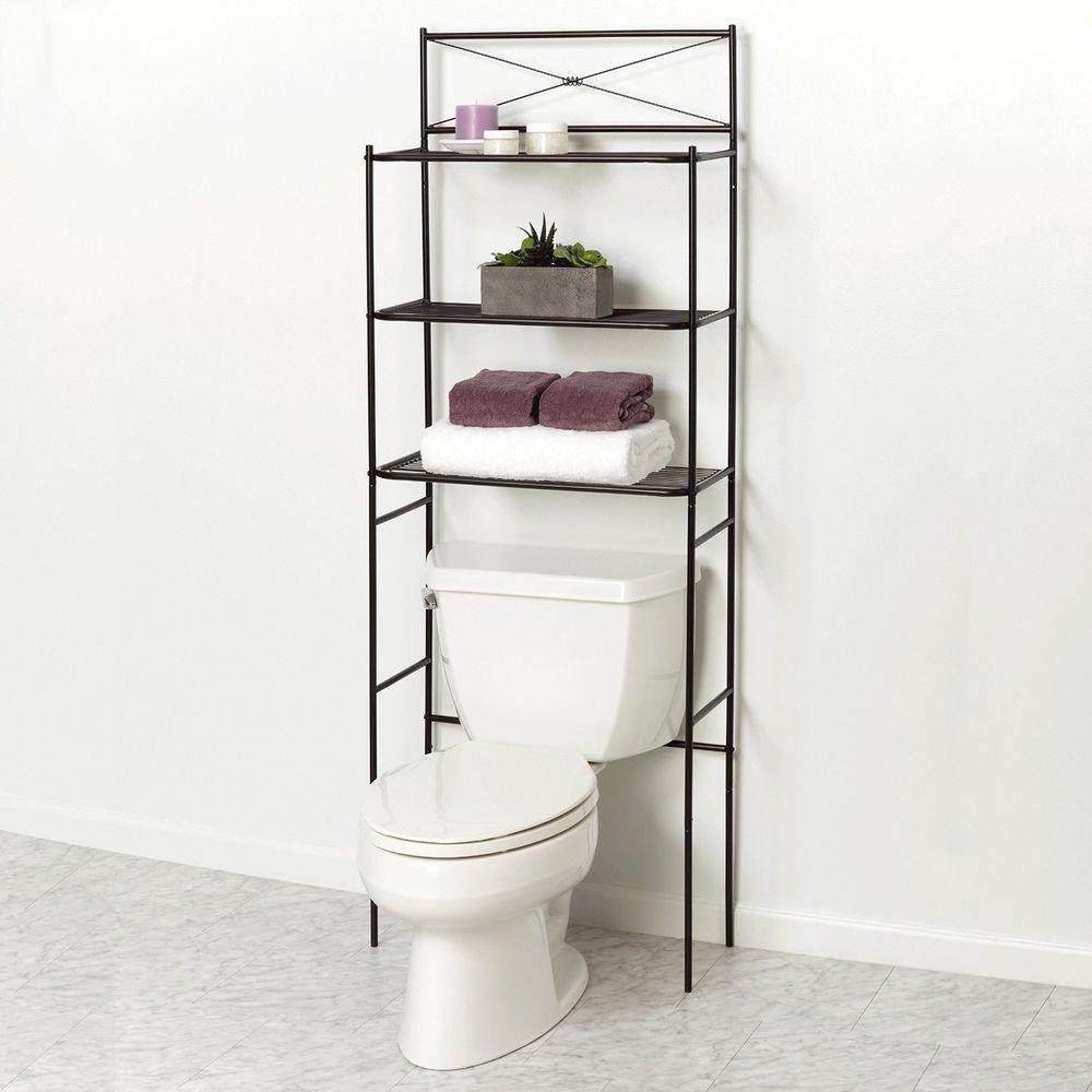 Over The Toilet Bathroom Spacesaver Shelves Storage Towel Shelf Organizer  Bronze #ZPC