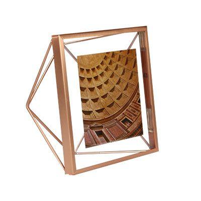 Porta-Retrato Prisma Cobre 10x10cm - Umbra