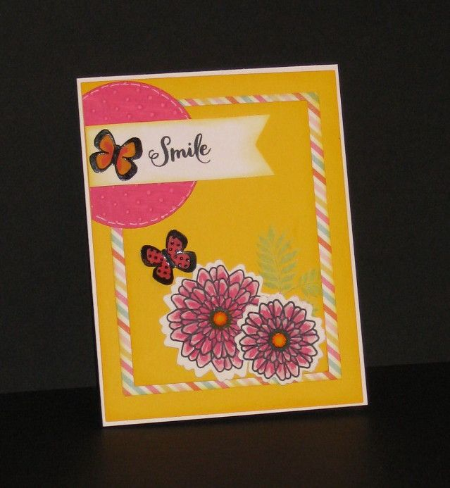 Handmade card by Donna Whitten using the Button Best and Petals & Wings stamp sets from Verve. #vervestamps