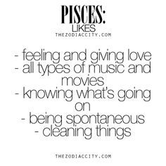 What Zodiac Pisces Like. For much more on the zodiac signs, click here.