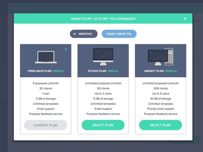 Plan upgrade screen How to plan, User experience design
