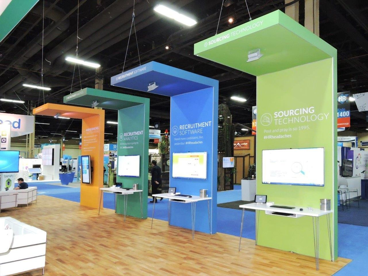 Straight Panel Trade Show Booth Design Ideas in 2020 | Trade ...