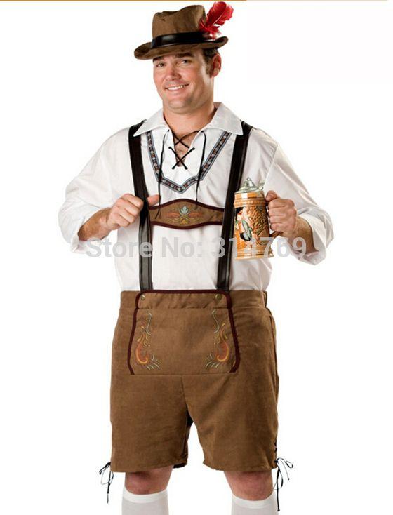Lederhosen Mens Adult Deluxe Festive Beer Fest Oktoberfest Costume