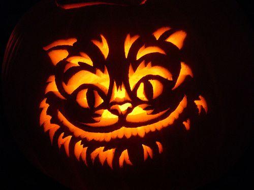 pumpkin template cheshire cat  a brilliant Cheshire cat pumpkin carving we found online