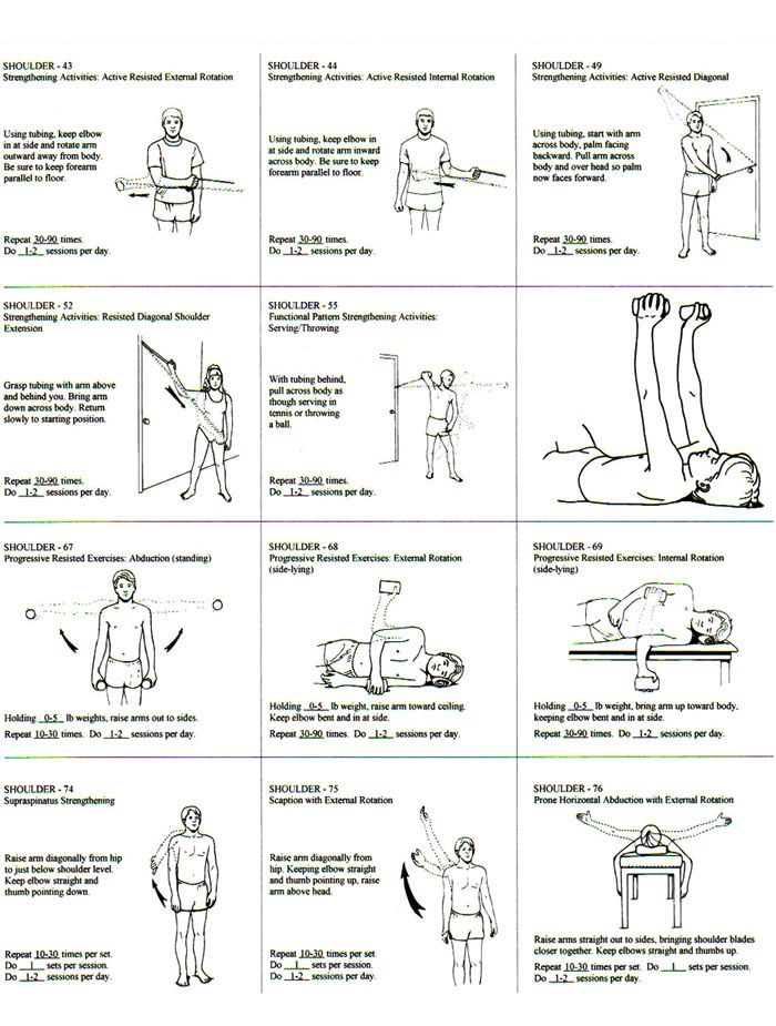 Shoulder Strengthening Rehab Exercises Going To Start Doing These Three Times A Week I Mus Rotator Cuff Exercises Physical Therapy Exercises Shoulder Workout