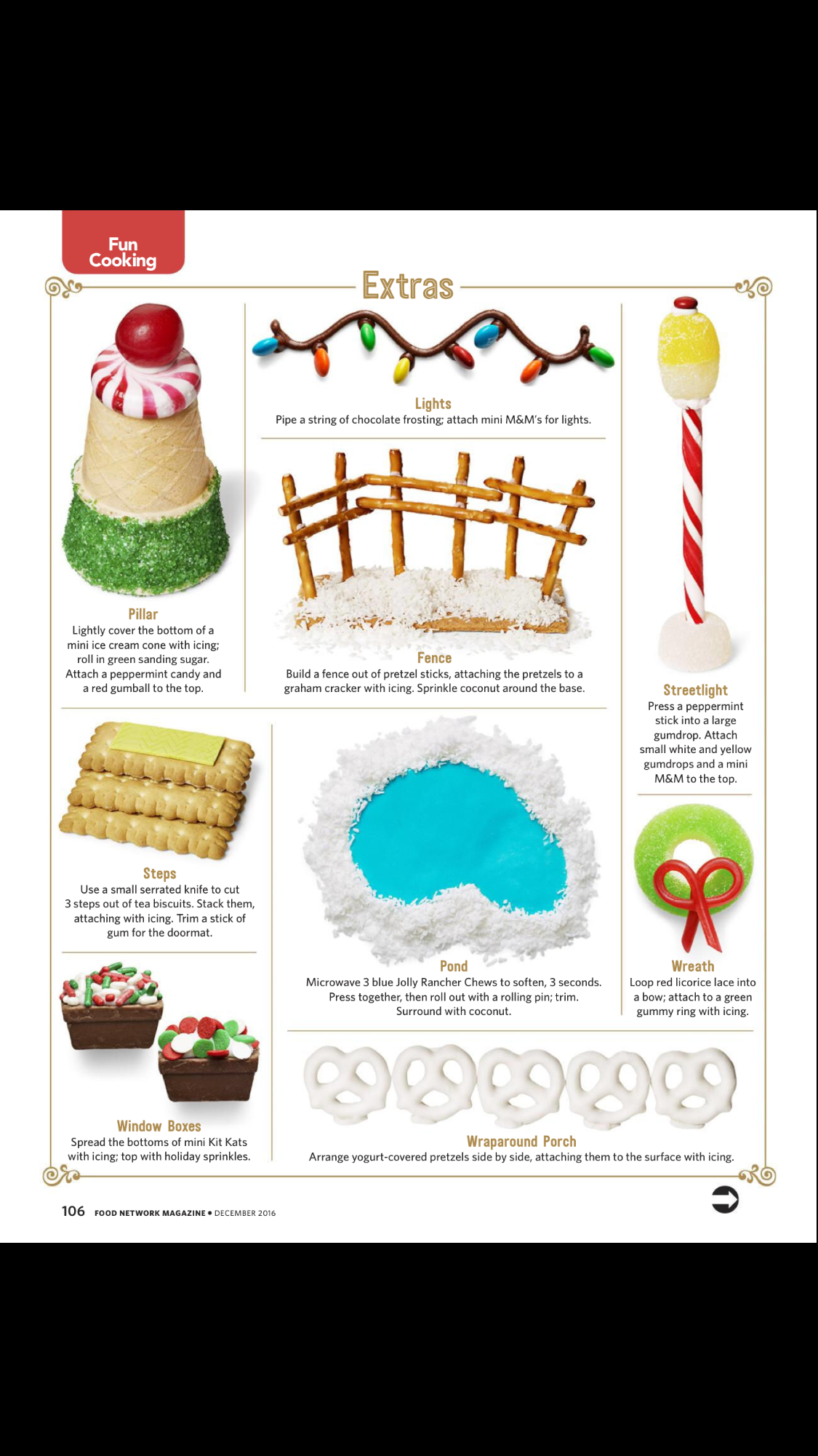 Food Network Magazine Gingerbread House Decorations | Gingerbread in ...