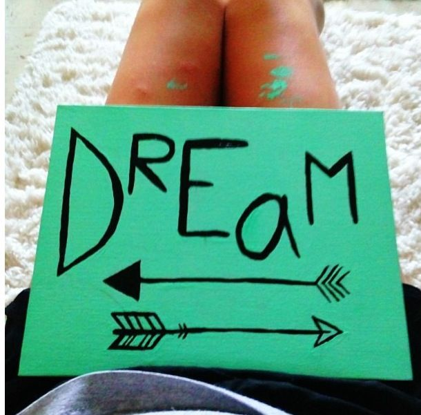 DIY Canvas Painting Dorm Decor Dream Arrow