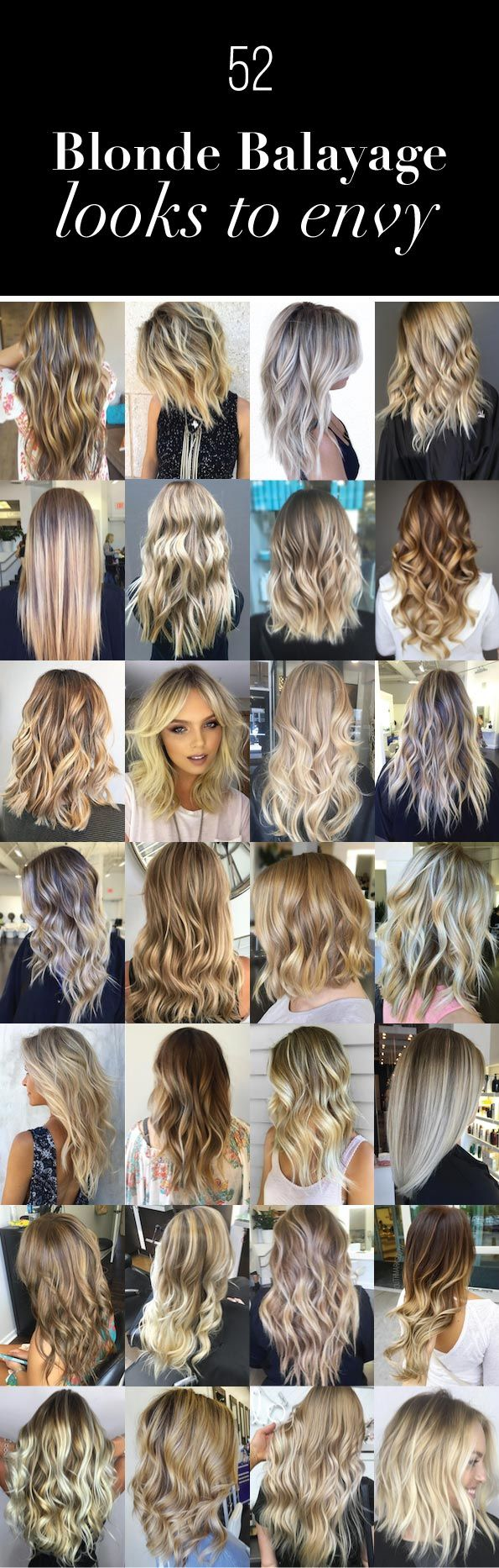 Share Tweet Pin Mail Long dynamic blonde balayage. (Alohi Lewis) Straight platinum blonde balayage. (Capelli) Short and textured. (Brenda Kamt) Gorgeous honey waves. (Amber ...