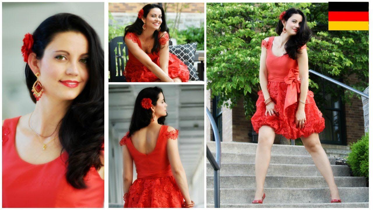 Ein Party Kleid nähen - Flamenco - Spain - Vivienne Schnittmuster ...