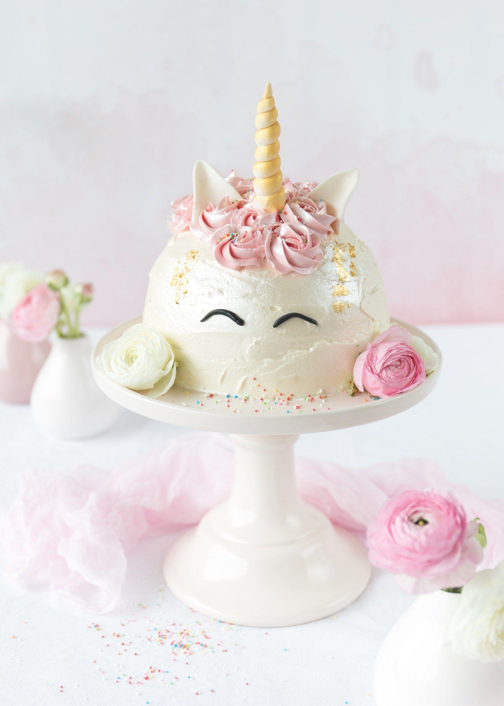 Einhorn Torte Zum Bloggeburtstag Von Feines Handwerk
