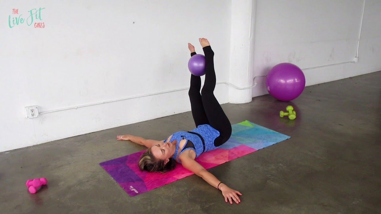 Mini Ball Ab Workout Exercises with the small exercises
