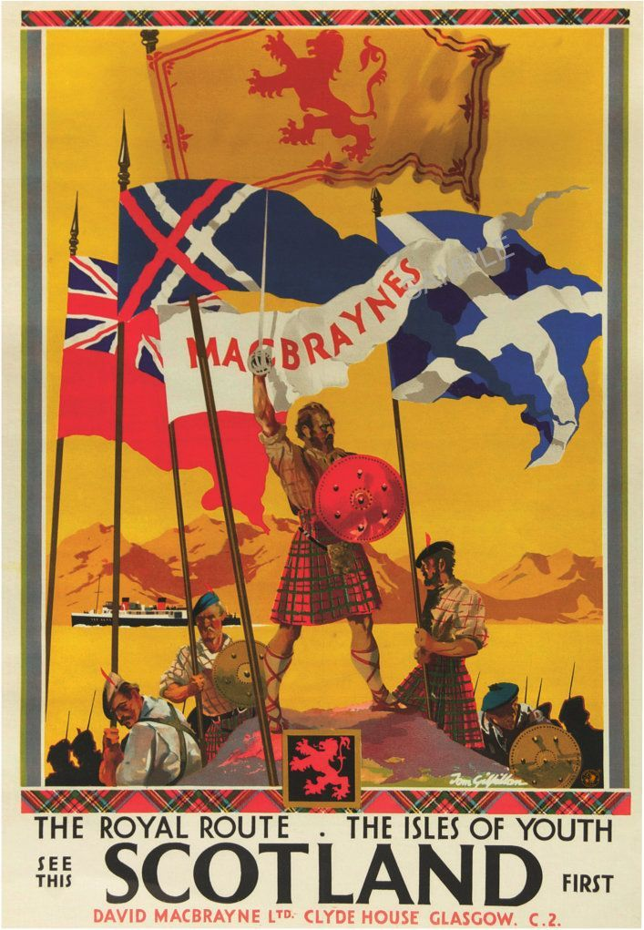Pin on Scotland Vintage Posters