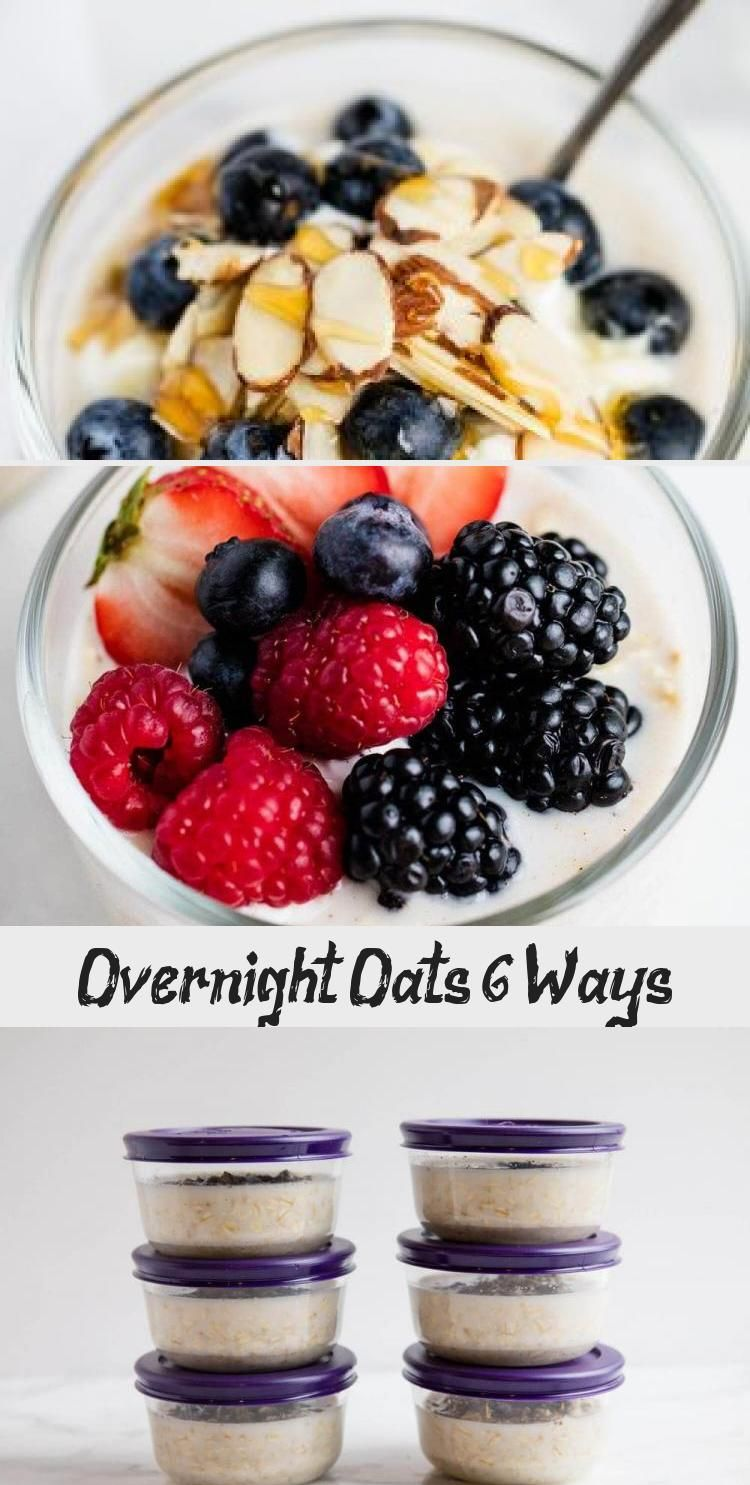 Healthy Overnight Oats made 6 different ways! Simple, customizable and the perfect grab and go breakfast. #healthy #healthyrecipes #healthyeating #healthyfood #oatmeal #oats #mealprep #breakfast #breakfastrecipes #recipes #iheartnaptime #HealthyRecipesSweet #HealthyRecipesBeef #HealthyRecipesForKids #HealthyRecipesFish #HealthyRecipesFast