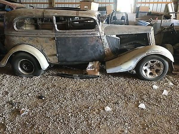 1934 Ford 2 Door Sedan Chopped At App 3 3 4 Inches Chop Needs Finishing New Recessed Firewall Installed Brand New Chassis Ford Price Antique Cars Rat Rod