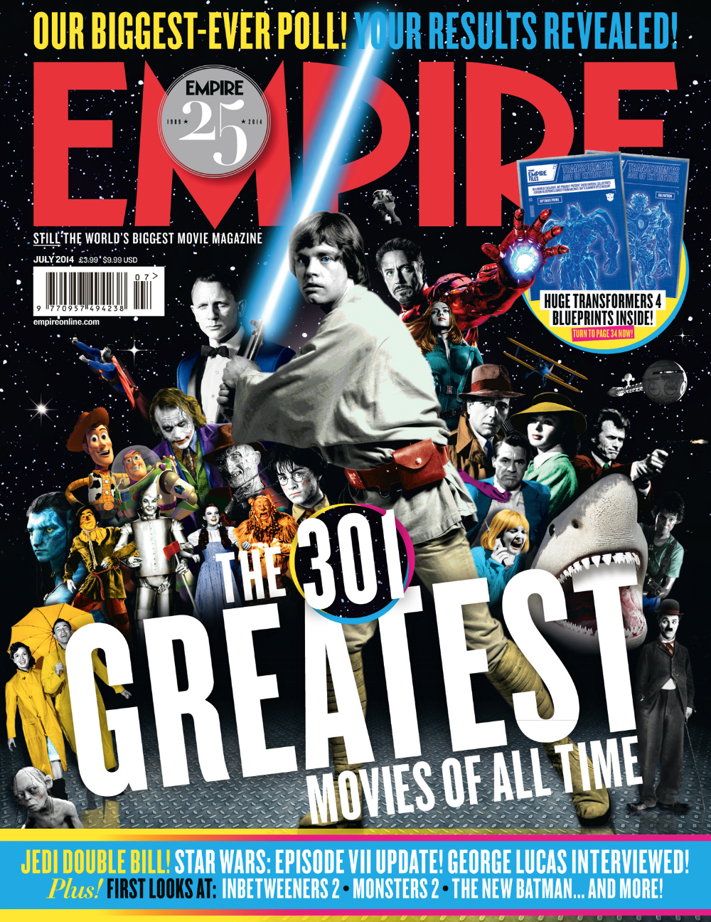 301 Greatest Movies Of All Time Cover Empire Matt Herring Debut Art Great Movies Star Wars Comic Books Star Wars Books