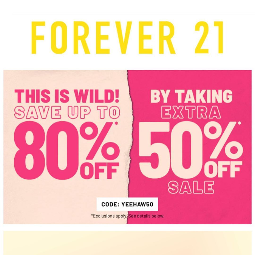 Hey Did You Know Forever21 Had Another Coupon Code For All Of Us To Use Yup Using Promo Code Yeehaw50 You Can Sav Promo Codes Coupon Promo Codes Forever 21