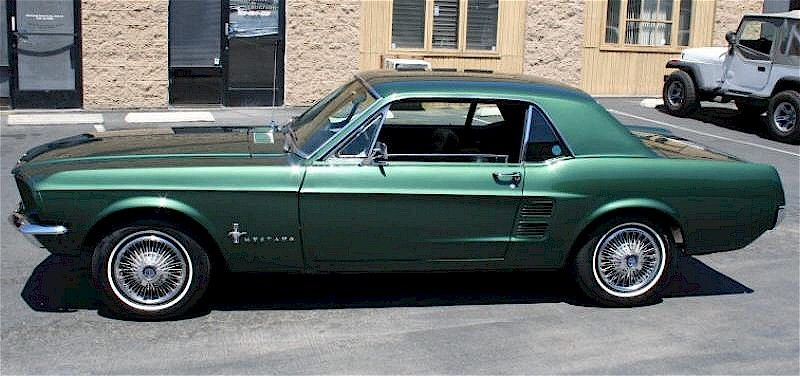 dark moss green 1967 ford mustang hardtop mustangattitudecom mobile - 1967 Ford Mustang Coupe Green