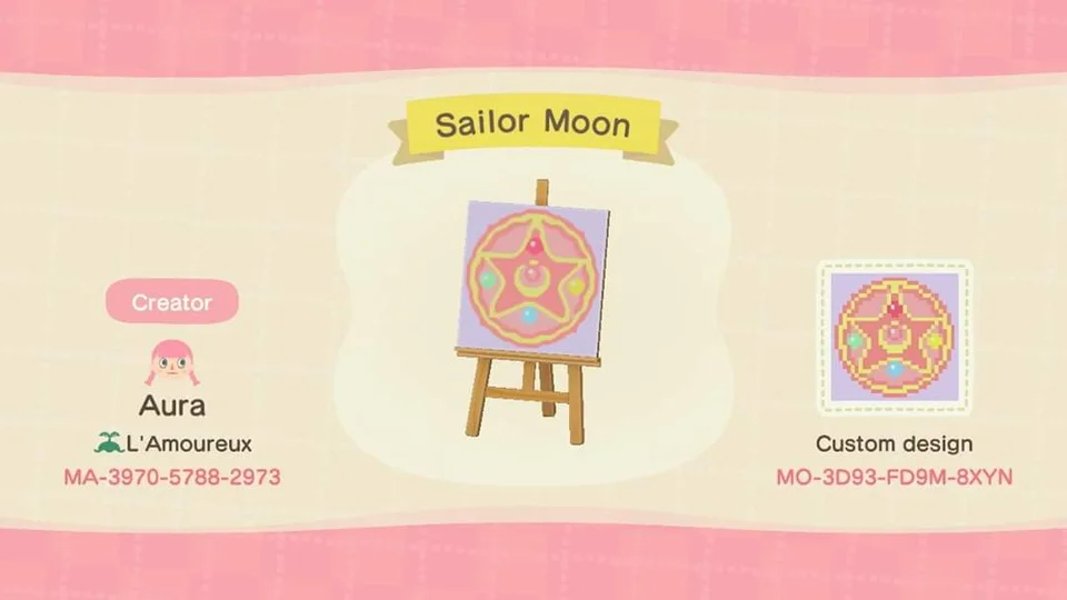 Sailor Moon Flag Acqr In 2020 Sailor Moon Animal Crossing