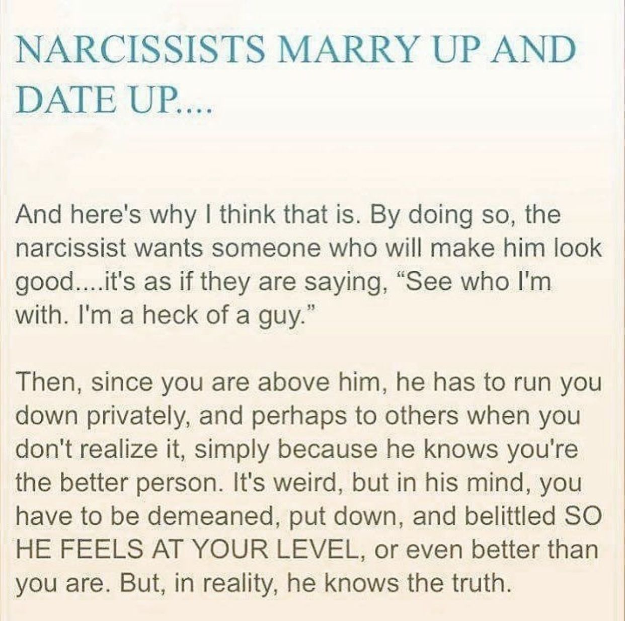 How to recover from dating a narcissist