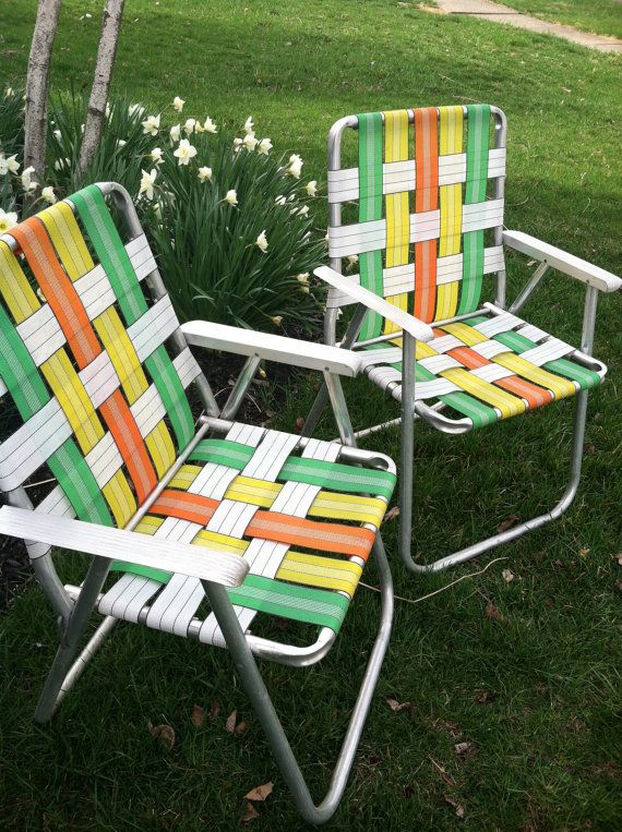 Retro Folding Lawn Chairs Set of 2 by ZassysTreasures on Etsy, $50.00 - RESERVED Listing For D Retro Folding Lawn Chairs - Set Of 2