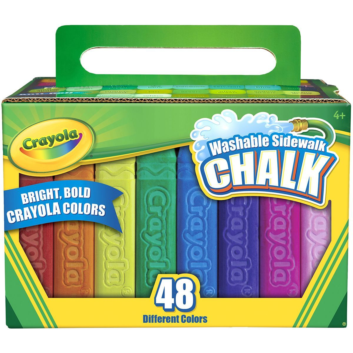 CRAYOLA-Sidewalk Chalk. The only sidewalk chalk in bright bold ...