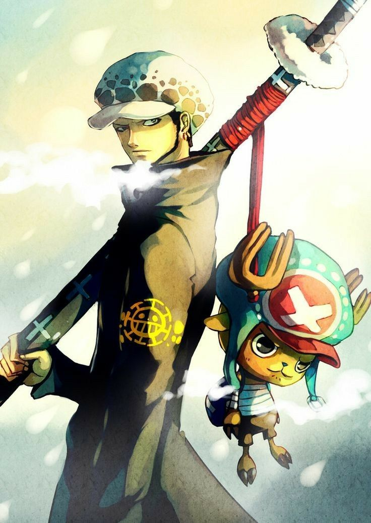 Trafalgar D Water Law And Chopper One Piece Anime Wallpapers Pinterest Choppers Anime And Trafalgar Law