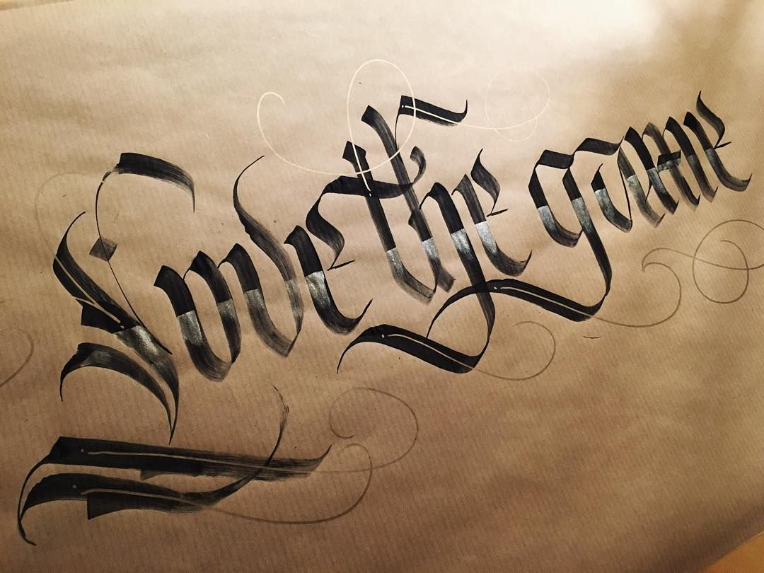 Love the game. #makedaily #calligraphy #calligraffiti #calligritype