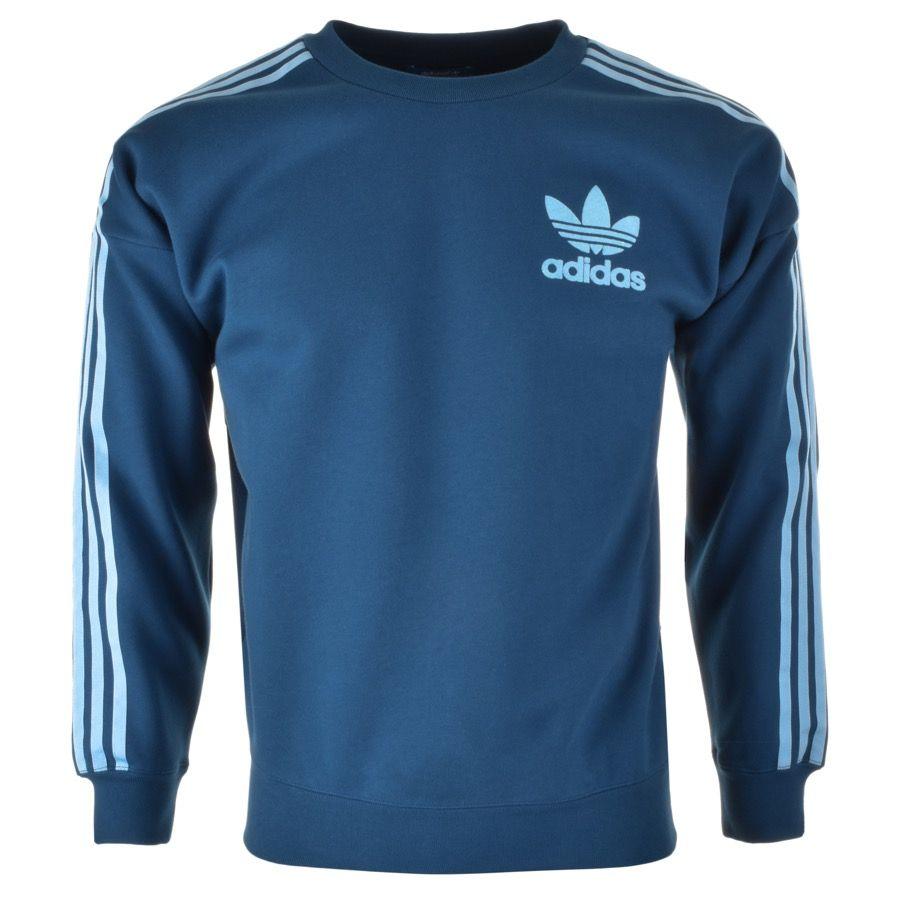 Adidas originali adicolor moda felpa blu principale