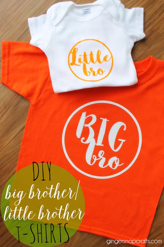 8bab3fcf0b3a DIY Big Brother Little Brother T-Shirts at GingerSnapCrafts.com #DIY  #tshirt #heattransfervinyl