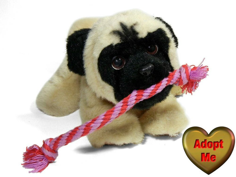 Hasbro Furreal Friends My Tugging Pup Pug Puppy Dog With Rope Toy