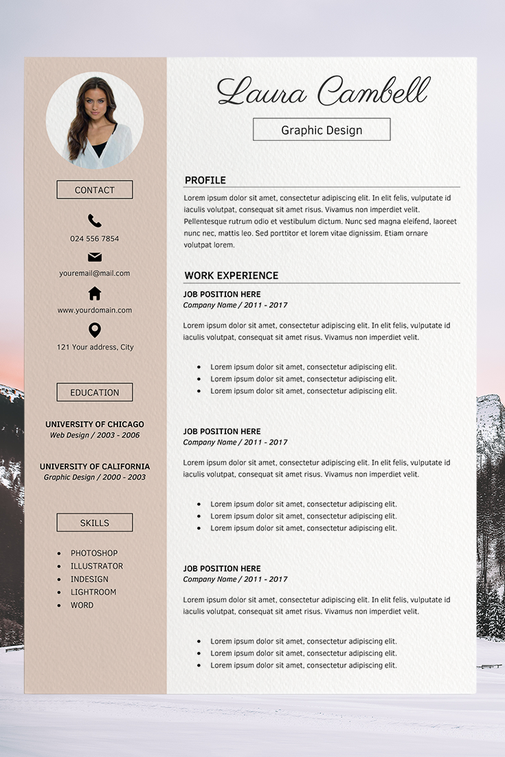 Cover Letter Template Resume Picture Template Laura Cambell Free Cv Template Word Free Resume Template Word Resume Template Word