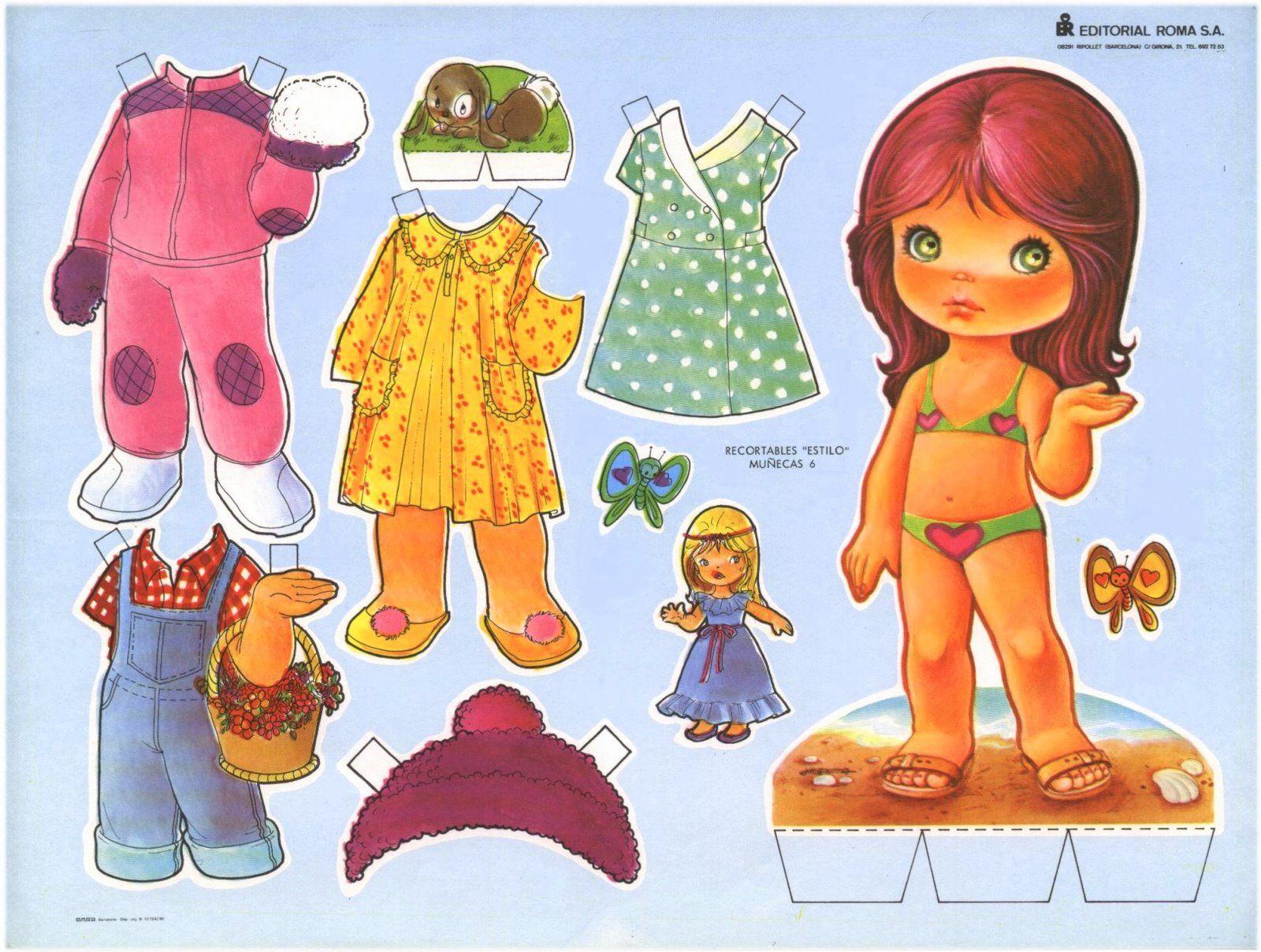 Бумажная кукла с набором одежды картинки