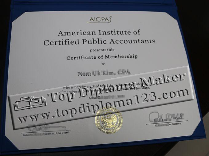 Aicpa Certificate Of Membership Aicpa Certification  Buy