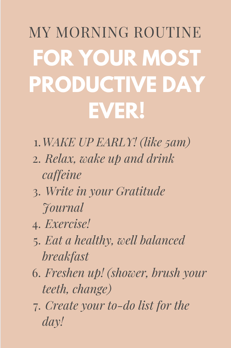 My Morning Routine for a Productive Day