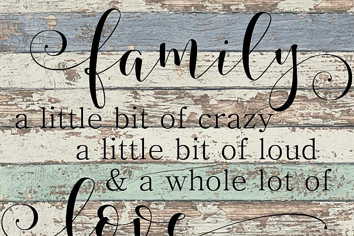 Download Family Crazy Loud Love - A Quote SVG   SVG Designs & Fun ...