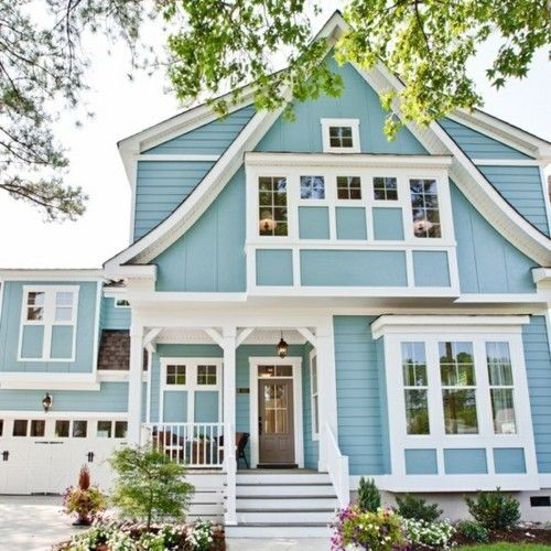 Wondrous Light Blue Colored House Home In 2019 Cottage Homes Interior Design Ideas Gresisoteloinfo