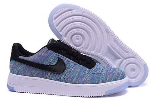 Nike Air Force 1 Flyknit Mens Running Shoes Blue - Air Force 1 ...