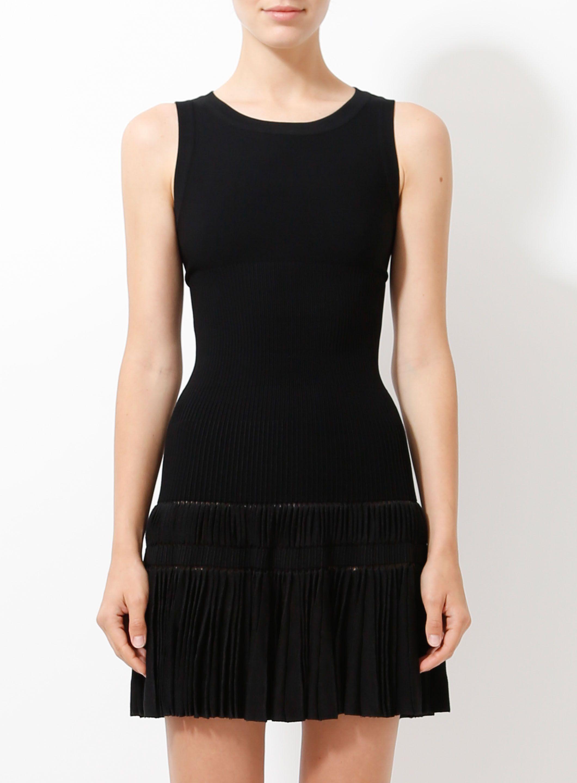 Pleated Skirt Skater Dress In 2021 Dresses Knit Skater Dress Stretch Knit Dress [ 2880 x 2120 Pixel ]