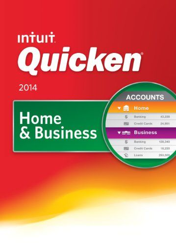 Quicken Home & Business 2014 [Download]: Intuit Quicken Home and Business 2014  Product Features  Includes Everything in Business, Plus:  Categorizes your personal spending and your business expenses, automatically1 Saves you money by finding tax-deductible business expenses Shows the profit and loss for your business at a glance, so you always know where you stand Mobile and tablet apps help you make smart decisions on the go2 Snap & store receipts to keep track of big purchases
